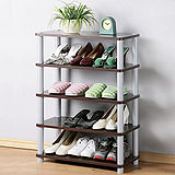 《Homelike》簡約五層開放式鞋架(二色可選)