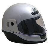 EVO台製素面全罩式機車安全帽-灰銀