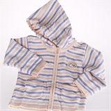 (任選)★ 魔法Baby ★百貨專櫃正品~時尚休閒條紋連帽毛衣外套~k05427~黃