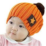 【iSFun】五角星星兒童毛線帽/橘