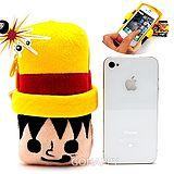 日本進口【航海王魯夫】絨毛iPhone4票卡手機袋