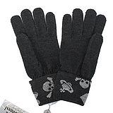 Vivienne Westwood 骷髏針織手套-深灰