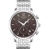 TISSOT TRADITION 復刻計時鋼帶腕錶(T0636171106700)-灰