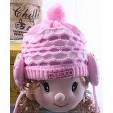 (購物車)魔法Baby ~超卡哇依女童針織護耳毛線帽~k18677