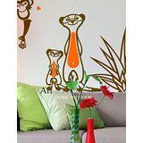 Art STICKER璧貼 。狐蒙 Suricata suricatta (A046)