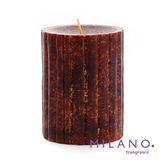 【MILANO 米蘭香氛蠟燭】加勒比海檀香木香氛手工蠟燭(3x4吋)