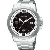ALBA ACTIVE 大世紀爭霸腕錶(VJ42-X008D)-黑/銀