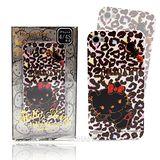 日本限定【Hello Kitty豹紋俏皮小惡魔】軟式iphone4/4S手機背蓋/殼