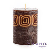 【MILANO 米蘭香氛蠟燭】波希米亞檀香木香氛手工蠟燭(3x4吋)