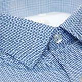 【金安德森】白色藍色交錯格紋內裡刷毛長袖襯衫