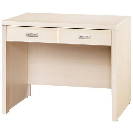 《愛比家具》喬美德白橡木3尺雙抽書桌(白橡木色) -friDay購物 x GoHappy