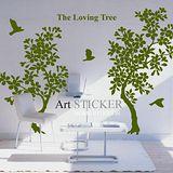 Art STICKER璧貼。The Loving Tree (T051)