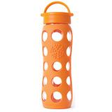 美國唯樂Lifefactory 繽紛彩色玻璃水瓶650ml橘色 LF230000