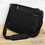 DF【Bag school 】RUFA美式專業實用防水多夾層筆電2用側背包