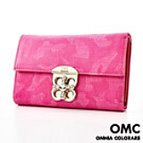 【OMC OMNIA COLORARE】韓國原廠時尚編織格紋實用牛皮中夾(共4色)