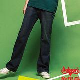 【BOBSON】潮男低腰喇叭牛仔褲(52深藍)