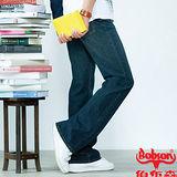 【BOBSON】潮男低腰喇叭牛仔褲(53藍)