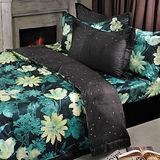 法國Casa Belle《塞納聖夜》加大四件式長絨棉兩用被床包組