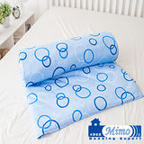 【米夢家居】藍色泡泡100%精梳純棉雙面涼被(5*6呎)