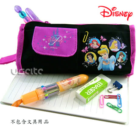 Disney迪士尼白雪公主筆袋化妝包-黑色 -friDay購物 x GoHappy