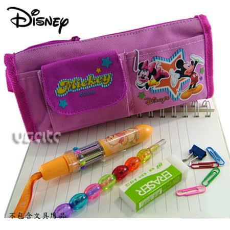 Disney迪士尼mickey米奇筆袋化妝包-粉紅色 -friDay購物 x GoHappy