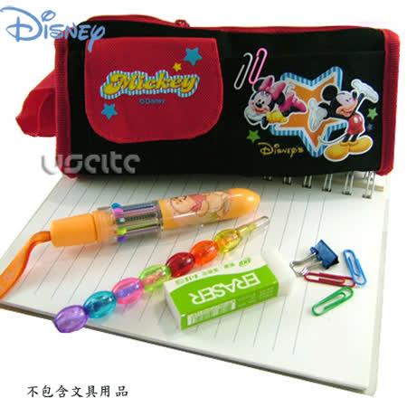 Disney迪士尼mickey米奇筆袋化妝包-黑色 -friDay購物 x GoHappy