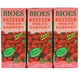 囍瑞BIOES100%純天然蔓越莓綜合果汁200ml*6 入
