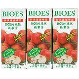 囍瑞BIOES100%純天然蘋果汁200ml*6入