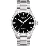 TISSOT T-Tempo 都會時尚機械腕錶(T0604071105100)-黑/銀