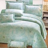 《典雅青春》100%精梳棉雙人四件式床包被套組(台灣製)
