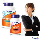 NOW健而婷-精采生活套組( Omega-3魚油+葉黃素)