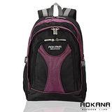 AOKANA奧卡納 輕量防潑水護脊紓壓機能後背包68-045 (紫/黑)