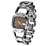 GUCCI G-Gucci 時尚咖啡面女腕錶(YA125402)-32mm