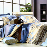 《葉語綺夢》雙人加大四件式舖棉兩用被床包組