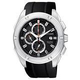 CITIZEN Super Titanium 超級鈦計時腕錶(CA0210-00E)-黑