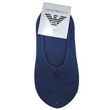 Emporio Armani 經典LOGO刺繡隱形短襪-藍