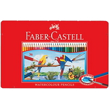 Faber-Castell 115937 水性色鉛筆紅色精緻鐵盒裝36色組