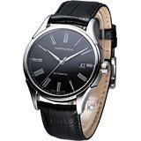HAMILTON Classic 經典時尚機械錶(H39515734)黑皮
