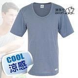 【瑞多仕-RATOPS】男款 Coolmax 圓領快乾排汗內衣/鐵灰 DE7002 B