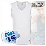 【瑞多仕-RATOPS】男款 Coolmax V領快乾排汗內衣/白 DE7010 B