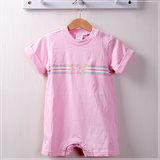 (購物車)魔法Baby ~歐美單短袖包屁衣(粉紅)~時尚設計童裝~k20823