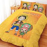 【享夢城堡】航海王 邁向未來系列-雙人四件式床包涼被組