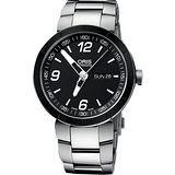 ORIS TT1 Day Date 極速機械腕錶(O735.7651.41.74MB)-黑/43mm