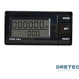 【日本DRETEC】流線型雙螢幕隨身計步器-黑