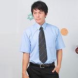 JIA HUEI 短袖柔挺領吸濕排汗防皺襯衫 藍色 [台灣製造]