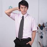 JIA HUEI 短袖柔挺領吸濕排汗防皺襯衫 粉色 [台灣製造]