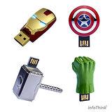 InfoThink Avengers系列造型隨身碟 8GB - 4入 限量收藏組