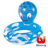 (購物車)《購犀利》美國品牌【Bestway】24吋章魚頭像充氣泳圈-藍、粉