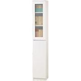 威尼斯1尺單玻璃門單密門鏡面PU書櫃