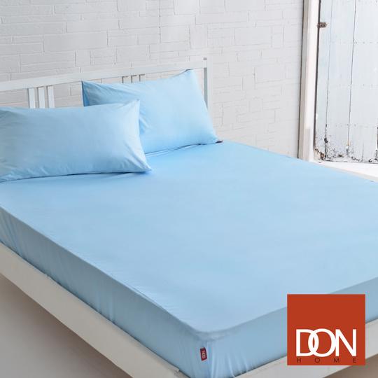 《DON─原色時尚》單人精梳純棉床包組(晴空藍)